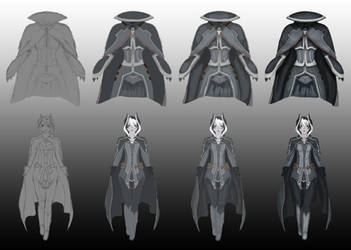 Ozen, step by step progress by Quillustrate