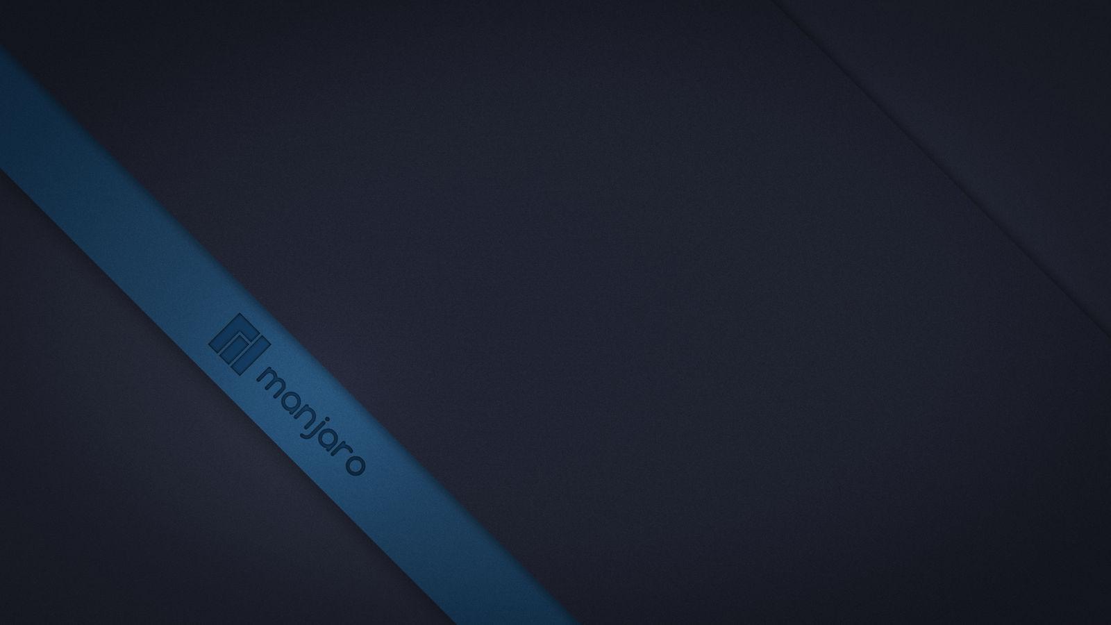Manjaro material blue 4k