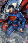 Superman Busting In