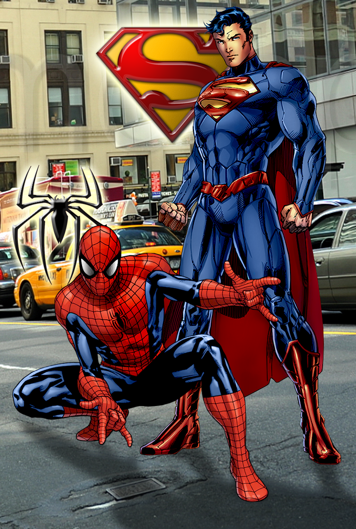Superman and Spider-man by SUPERMAN3D