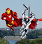 Iron Man and Steel over DC
