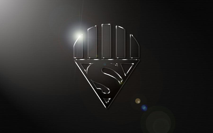Black Superman Logo Wallpaper Black Lantern Superman Logo