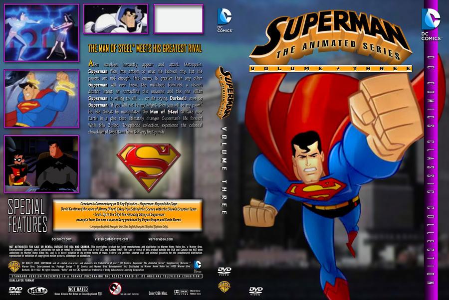 Superman: TAS Volume 3 Custom DVD Cover by SUPERMAN3D