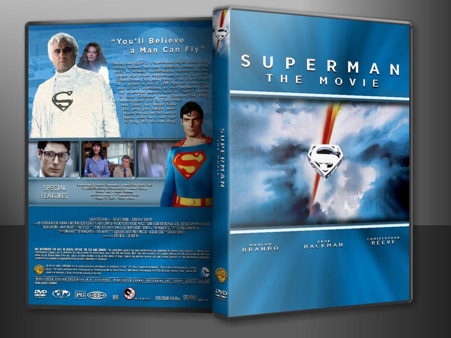 Superman: The Movie Custom DVD Cover V2 (In Case) by SUPERMAN3D