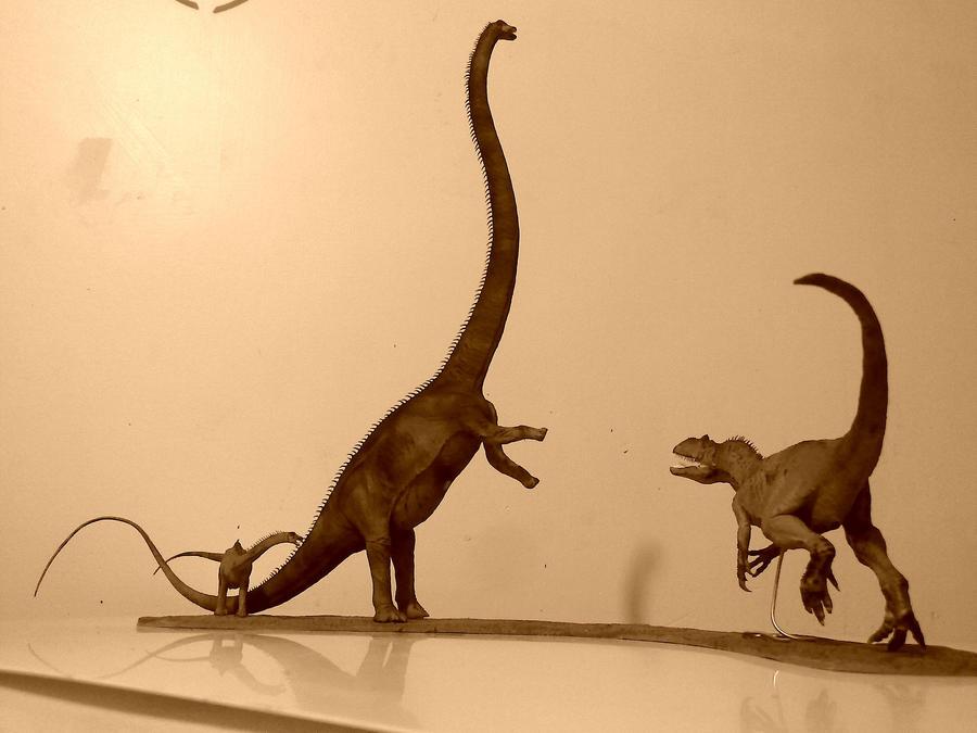 Barosaurus vs Allosaurus 1:40