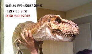 T REX 1:8 Bust closed mouth.