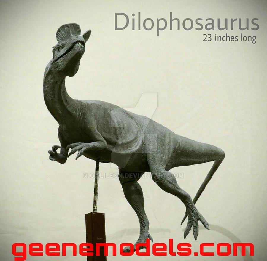 Dilophosaurus Sculpture by Galileo Hernandez by GalileoN