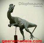 Dilophosaurus Sculpture by Galileo Hernandez