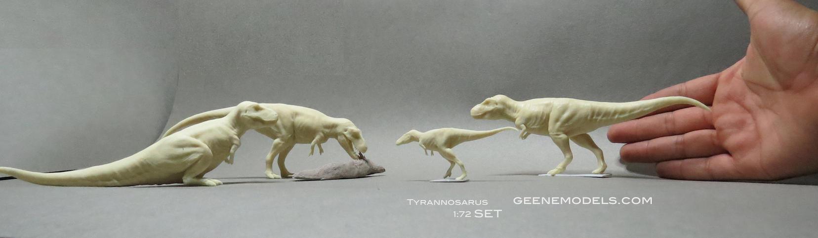 Tyrannosaurus Rex 1:72 scale set. by GalileoN