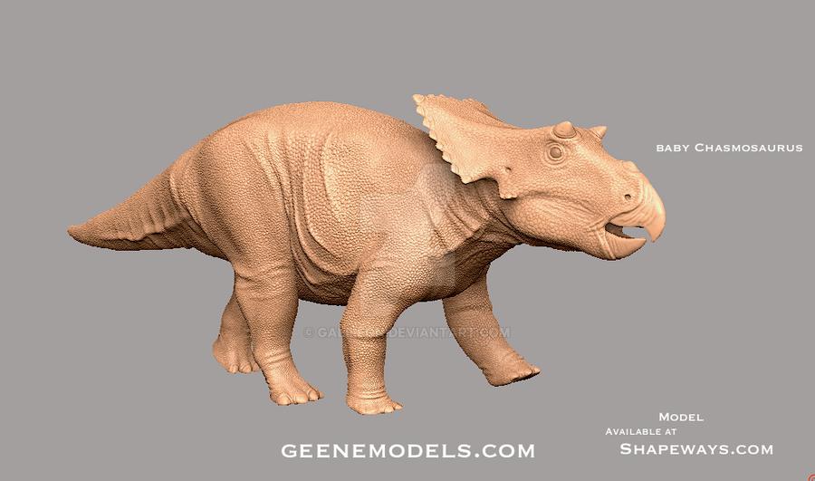 Baby Chasmosaurus by GalileoN