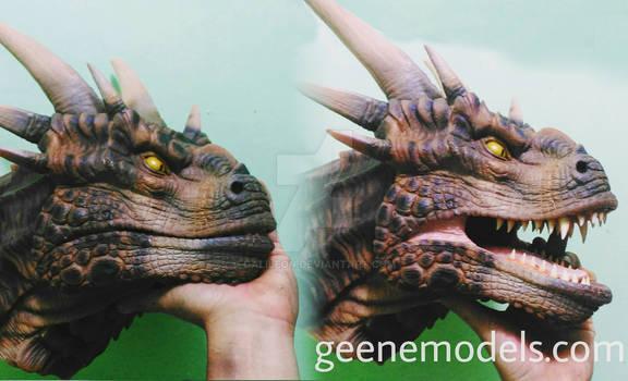 Dragon bust/hand puppet