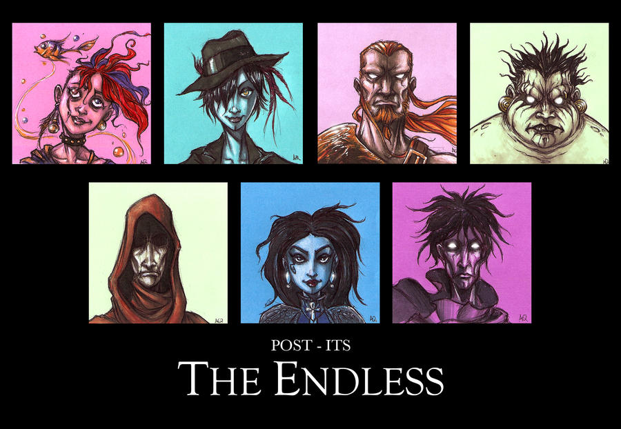 THE ENDLESS post its by QuinteroART