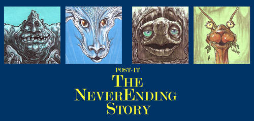 POST IT THE NEVERENDING STORY by QuinteroART