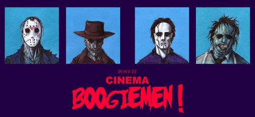POST IT CINEMA BOOGIEMEN by QuinteroART