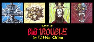 POST IT BIG TROUBLE IN LITTLE CHINA by QuinteroART
