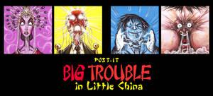 POST IT BIG TROUBLE IN LITTLE CHINA C2 by QuinteroART