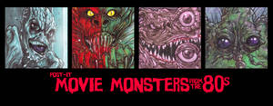 Post -It MOVIE MONSTERS From The 80s : Part 2