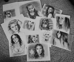 collage of popular drawings