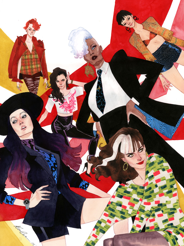 X-Fashions: All Female Lineup by kevinwada