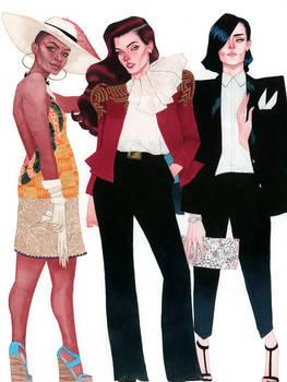 Vixen, Wonder Woman, and Zatanna - DC Fashion