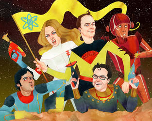 The Big Bang Theory...INN SPPAAAACE!! by kevinwada