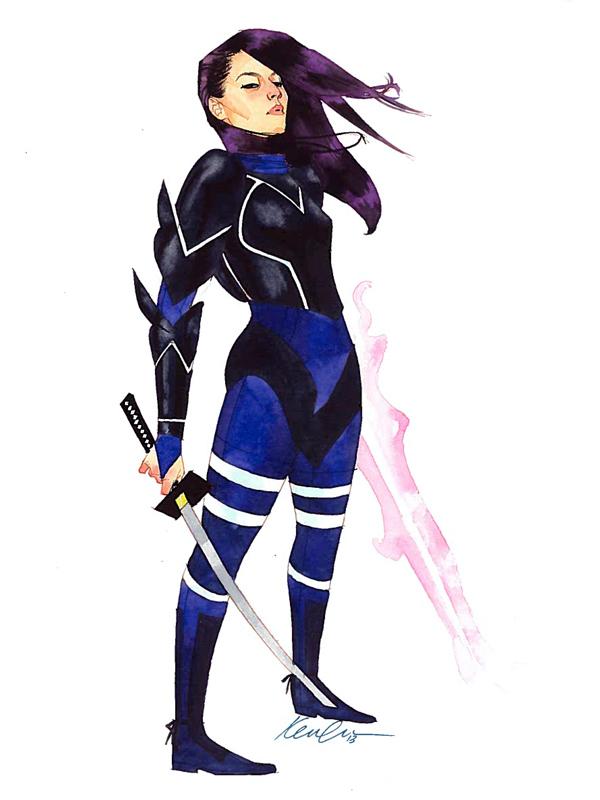 Psylocke by kevinwada