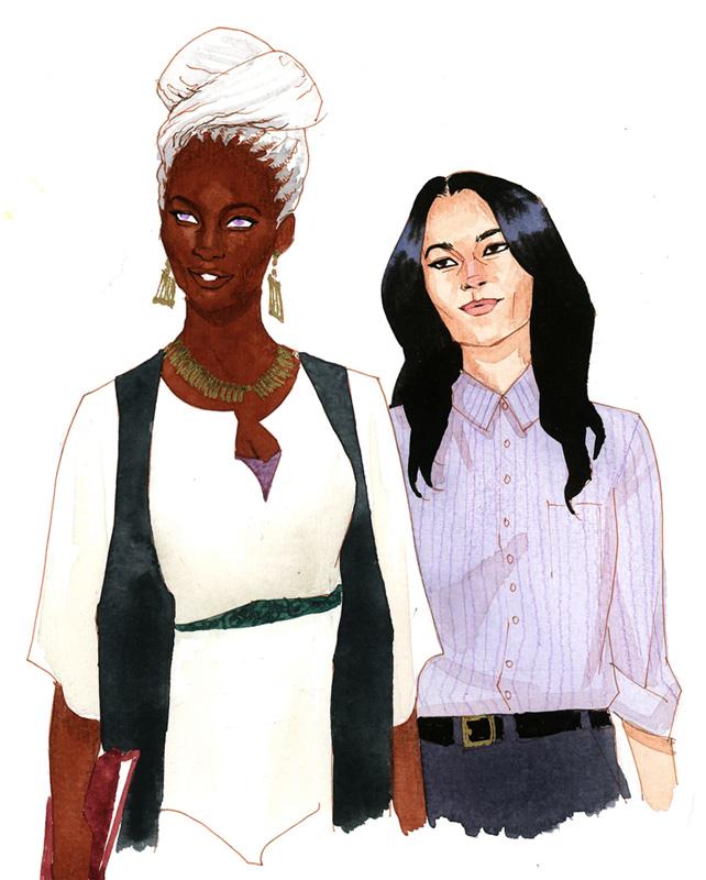 Professor Munroe and Professor Braddock by kevinwada