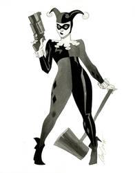 Harley Quinn - HeroesCon 2014 sketch by kevinwada