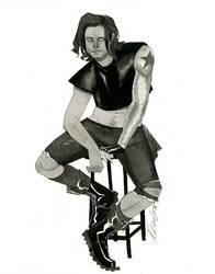 Bucky Barnes - HeroesCon 2014 sketch by kevinwada