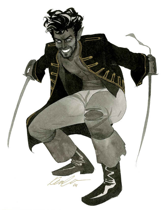 Nightcrawler - HeroesCon 2014 sketch by kevinwada
