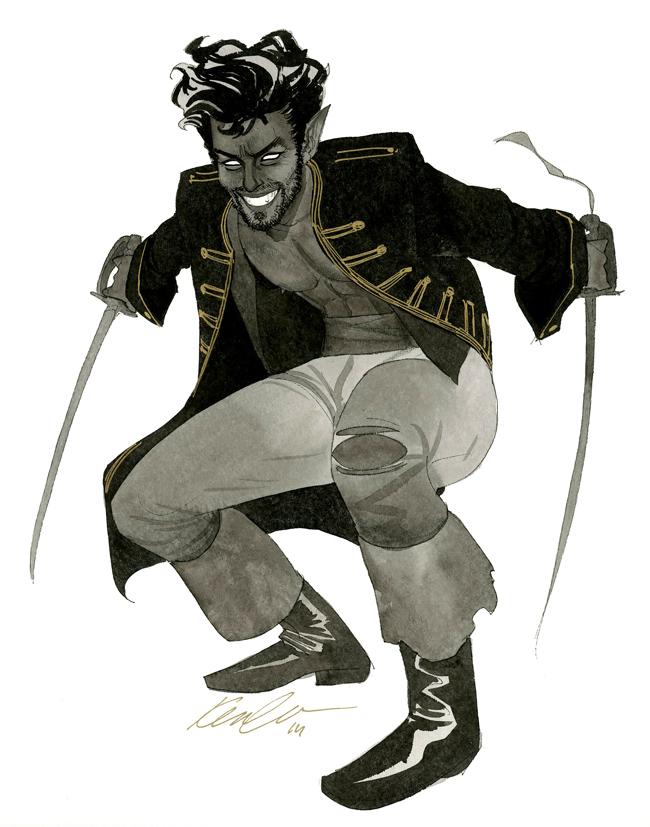 Nightcrawler - HeroesCon 2014 sketch by kevinwada