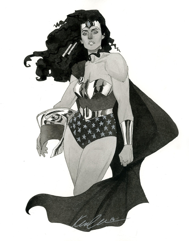 Wonder Woman - HeroesCon 2014 sketch by kevinwada