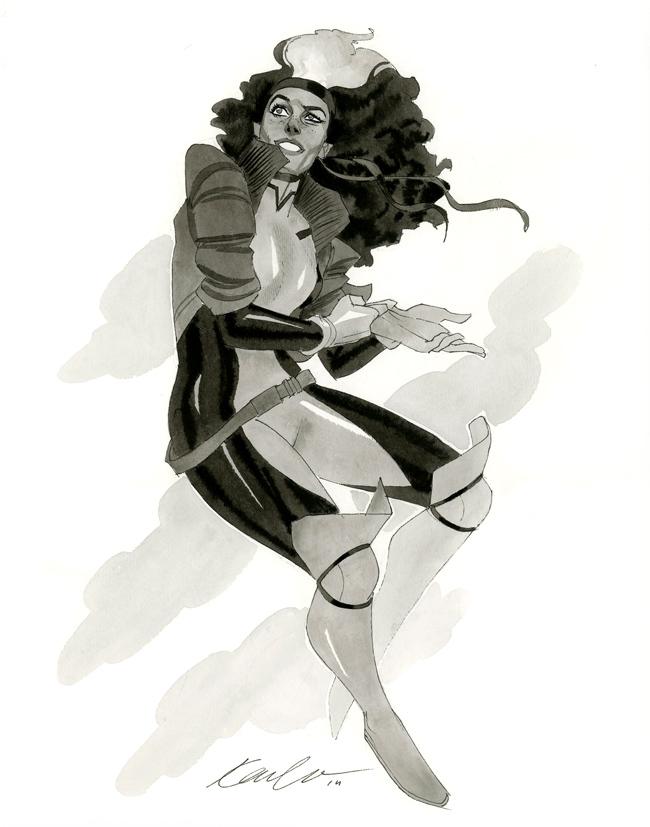Rogue - HeroesCon 2014 sketch by kevinwada