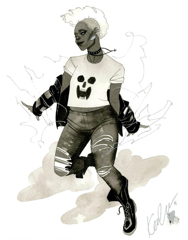 Punk Storm - HeroesCon 2014 sketch by kevinwada