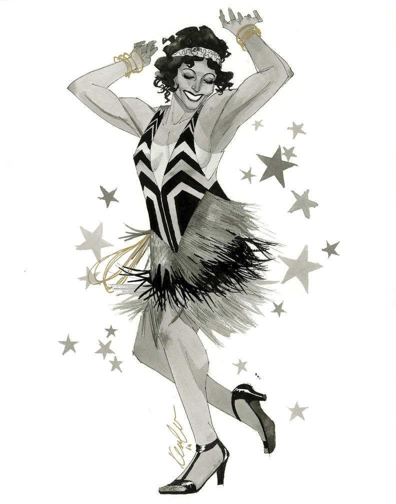 Wonder Woman Flapper - HeroesCon 2014 sketch by kevinwada