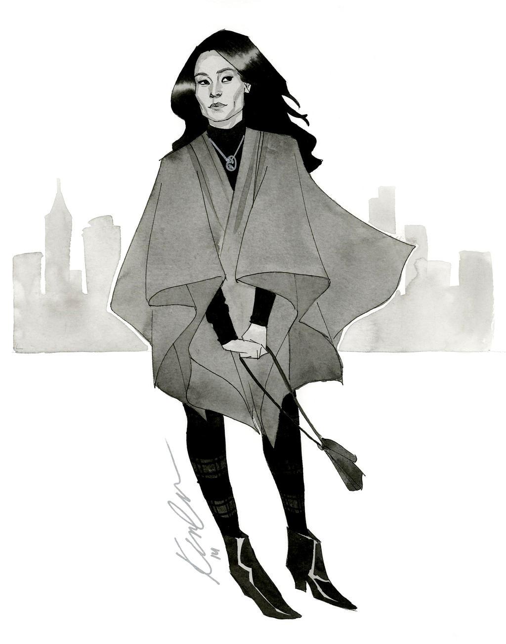 Joan Watson - HeroesCon 2014 sketch by kevinwada