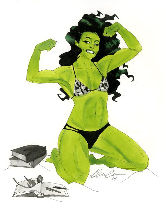 She-Hulk - Austin Wizard World 2014 sketch by kevinwada