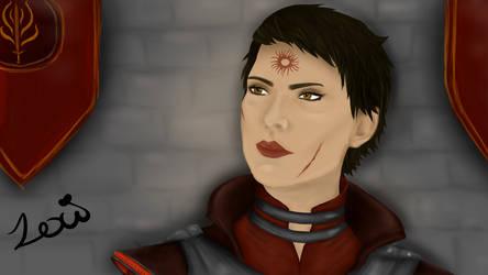 Inktober Day 2: Tranquil (Cassandra Pentaghast) by Taliren