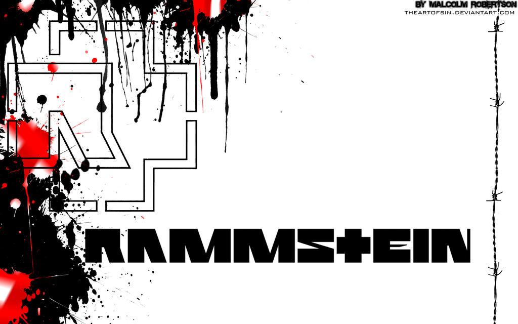 red rammstein logo