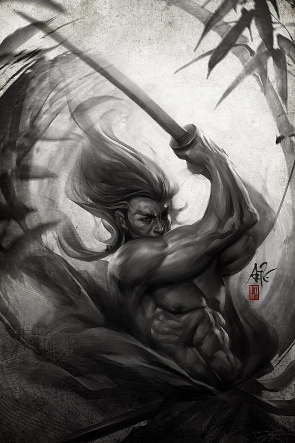 Samurai Spirit - Aura by Artgerm