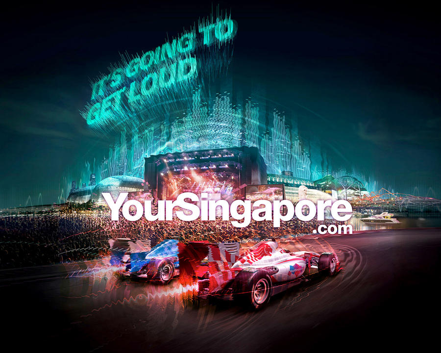 Singapore F1 2010 - F1Rock by Artgerm
