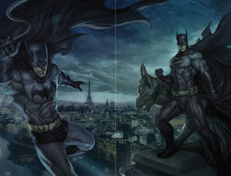 Bruce Wayne - Dick Grayson by Artgerm