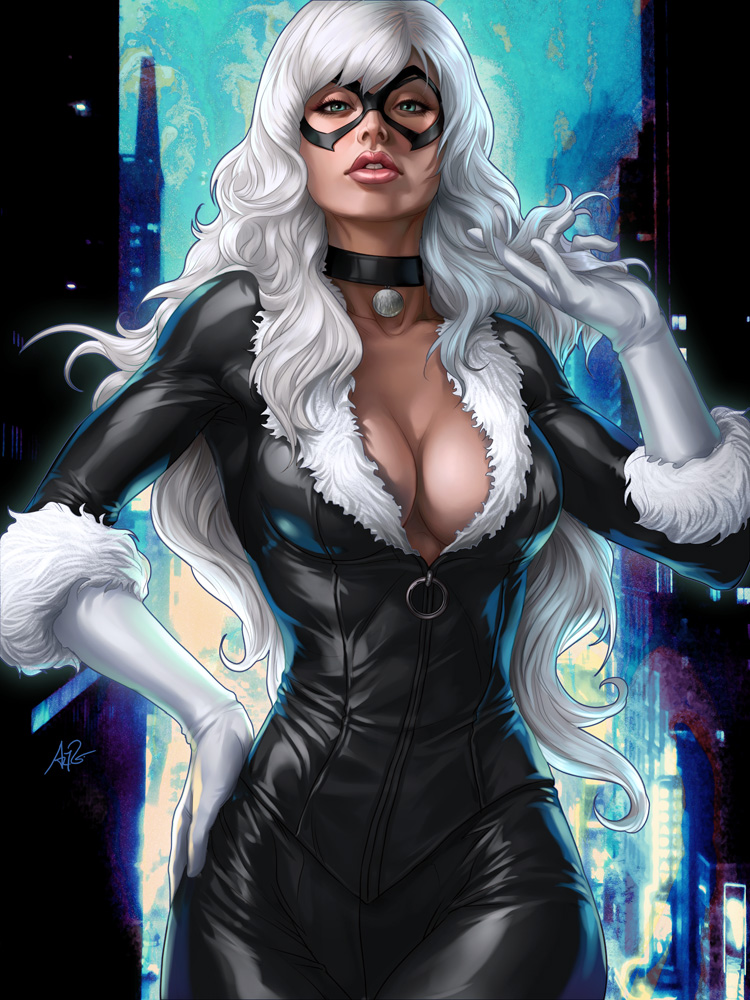 Black Pussy Cat by Artgerm