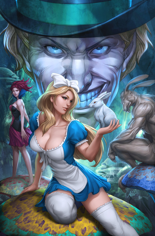 Alice in Wonderland 1 by Artgerm