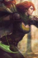 Windrunner - DotA2 by Artgerm