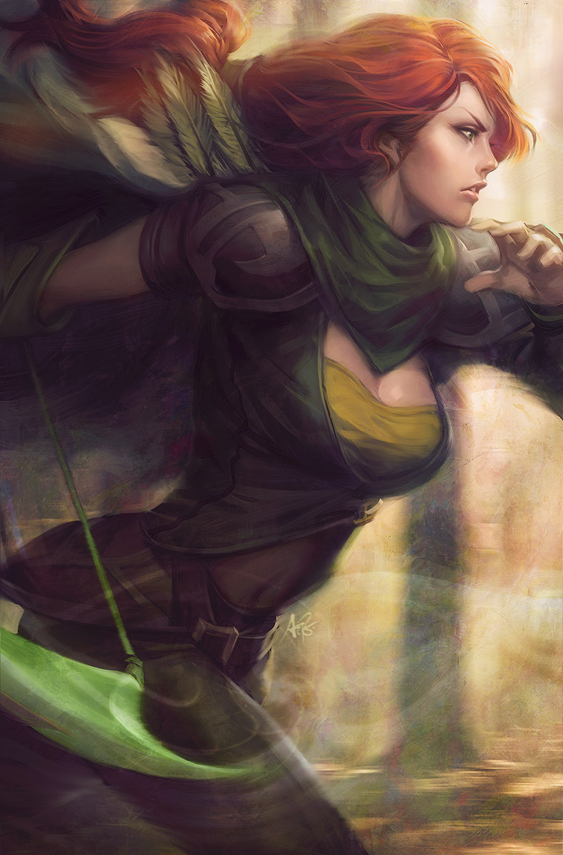 Windrunner - DotA2 by Artgerm