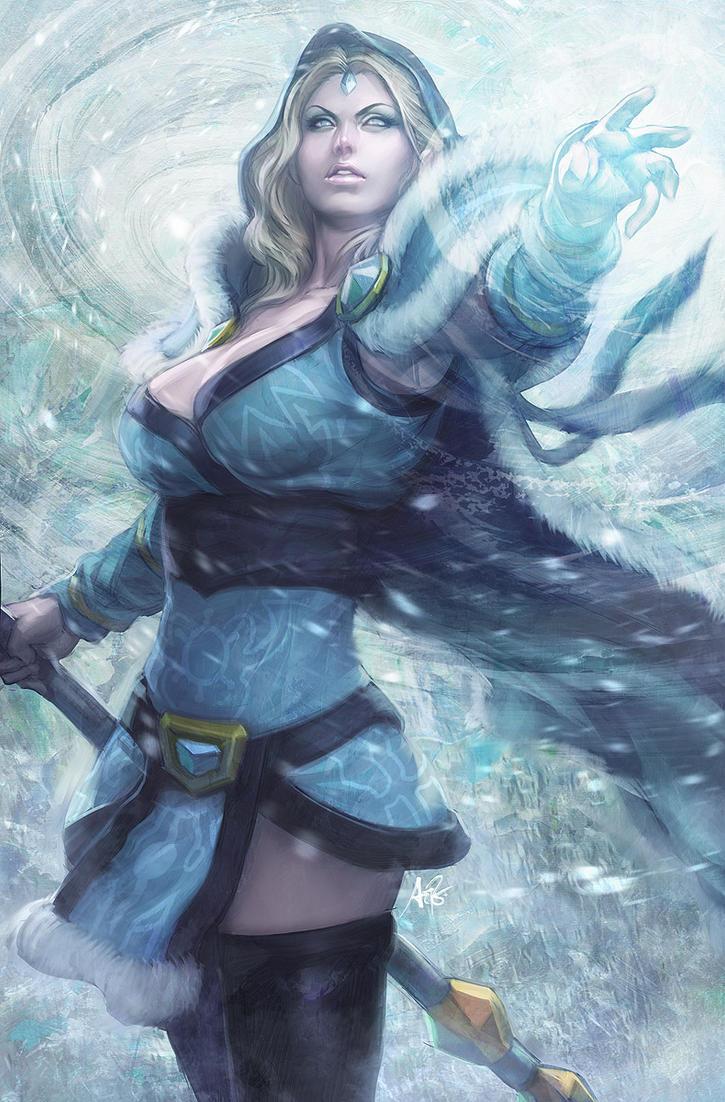 crystal maiden dota2 by artgerm on deviantart