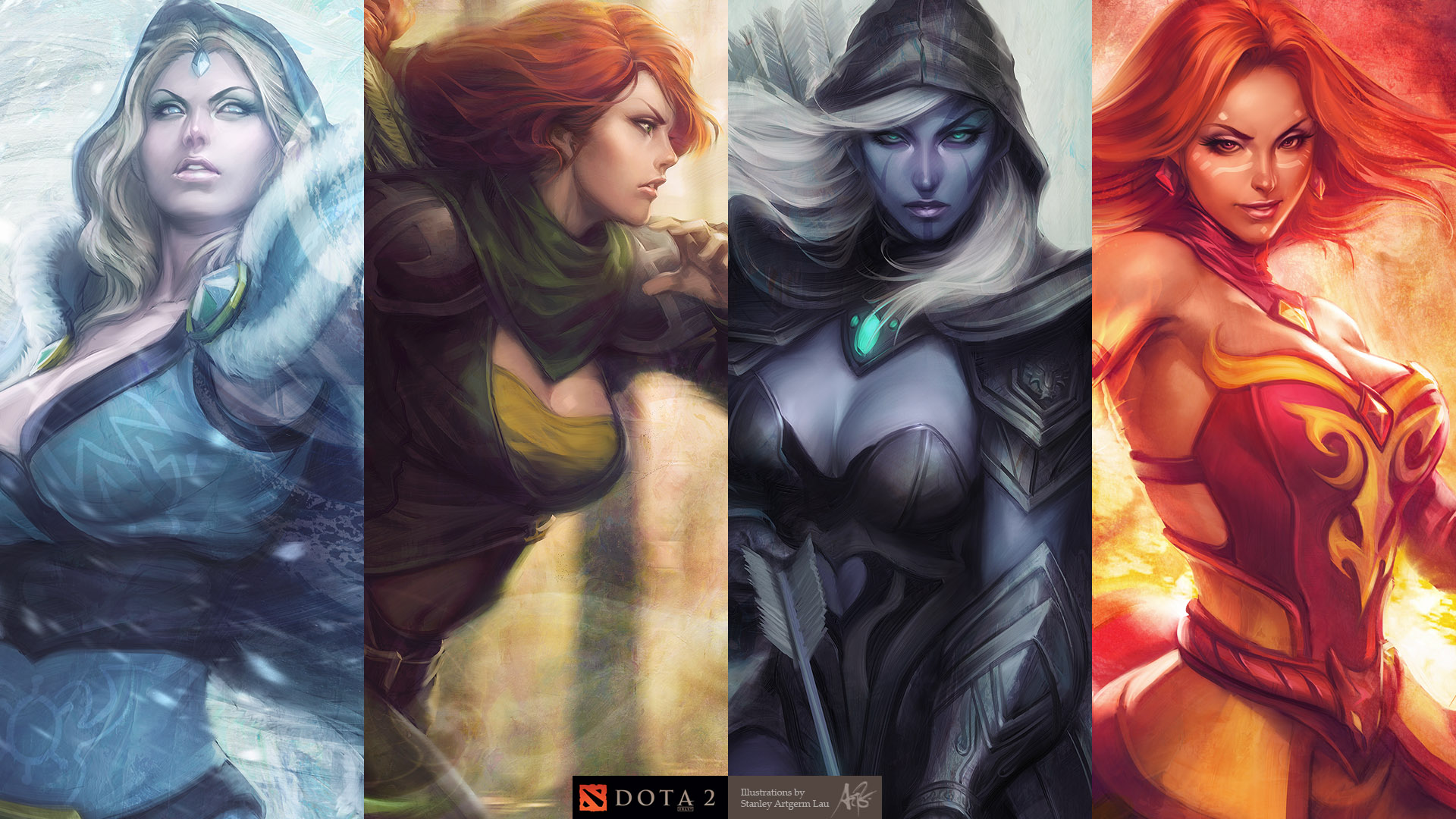DotA2 Heroines by Artgerm