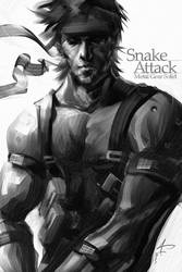 Solid Snake by Artgerm