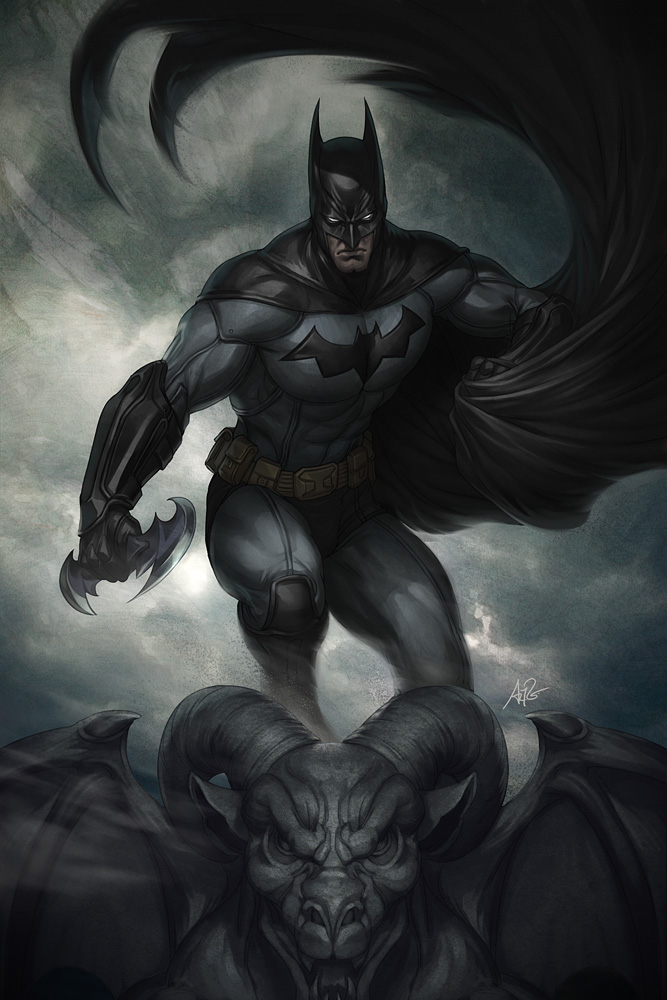 Dark Knight Descent by Artgerm